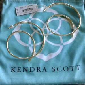 A set of hoops in gold from Kendra Scott